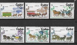 CUBA 1981 TRASPORTO - VETTURE ANTICHE YVERT. 2275-2280 USATA  VF - Cuba