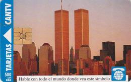 Télécarte Puce Venezuela - USA - NEW YORK Tours Jumelles TWIN TOWERS - Chip Phonecard - Paysages