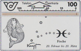 Télécarte L&G Autriche - Zodiaque POISSONS - SIRENE - MERMAID FISCH Horoscope Phonecard - Zodiaque