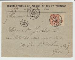 """RHONE: """" LYON """" CàD Type A1 / Sage Avec MILLESIME / LSC Rec De 1900 Pour Lyon TB:: - Marcophilie (Lettres)"""