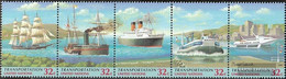 UN - New York 741-745 Five Strips (complete Issue) Unmounted Mint / Never Hinged 1997 Transportation - New York – UN Headquarters