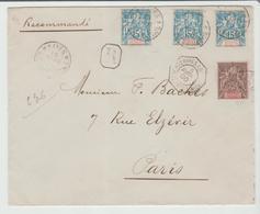 """SOUDAN Fcs:  """" BUENOS AYRES  à BORDEAUX 1°/ L. J N° 1 """" / LSC REC De KAYES De 1900 Pour Paris TB:: - Marcophilie (Lettres)"""