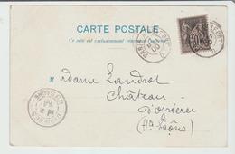 """AMBULANT : """" PARIS A BELFORT D """"  Type 2 Nuit / CPA De 1900 Pour Oyrières TB:: - Marcophilie (Lettres)"""