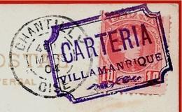 "Sur CPA Sevilla Espana Cachet De Départ ""CARTERIA VILLAMANRIQUE"" Destination 60 Chantilly France - Errors & Oddities"