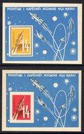 ALBANIA - 1962 SPACE EXPLORATION PERF & IMPERF BLOCKS MICHEL B9 B10 FINE MNH ** - Albania