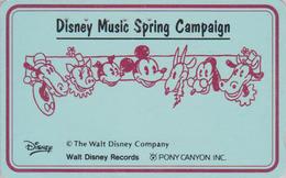 RARE Télécarte Japon / 110-011 - DISNEY - MUSIC SPRING CAMPAIGN - Japan Phonecard - Disney