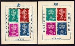 ALBANIA - 1962 MALARIA PREVENTION PERF & IMPERF BLOCKS MICHEL B7 B7B FINE MNH ** - Albania