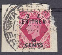 ERITREA Amministrazione Civile Britannica - 1950 - Yvert 20 Usato Su Frammento Di Busta. - Africa Del Sud-Ovest (1923-1990)