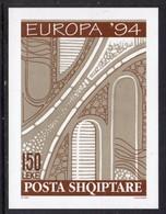 ALBANIA - 1994 EUROPA '94 CEPT ARCHITECTURE IMPERF BLOCK MICHEL B7 B7B FINE MNH ** - 1994