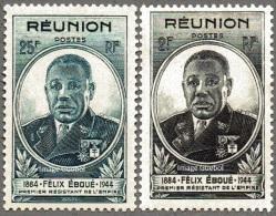 Réunion N° 260 Et 261 ** Gouverneur - Général Félix Eboué - Neufs