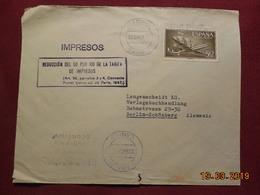 Lettre De 1959 à Destination De Berlin En Poste Aerienne - 1951-60 Briefe U. Dokumente