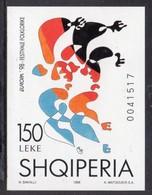 ALBANIA - 1998 EUROPA CEPT FOLKLORE FESTIVAL IMPERF BLOCK FINE MNH ** - Europa-CEPT