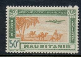 Mauritania 1942 Airmail 50f MUH - Mauritania (1906-1944)