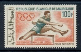 Mauritania 1968 Summer Olympics Mexico City 100f Hurdling MUH - Mauritania (1960-...)