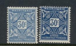Mauritania 1914 Postage Dues 30c 2xshades MLH - Mauritania (1906-1944)