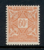 Mauritania 1914 Postage Dues 60c MLH - Mauritania (1906-1944)