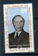Mauritania 1968 Konrad Adenauer MLH - Mauritania (1960-...)