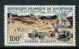 Mauritania 1963 Mining 100f Mine At Zoerite MLH - Mauritania (1960-...)