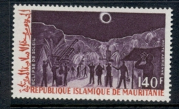 Mauritania 1973 Solar Eclipse 140f MUH - Mauritania (1960-...)