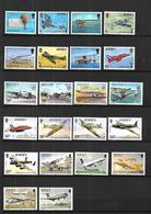 Thème Aviation  Avions  N** MNH  Jersey , Nicaragua , Seychelles , Bulgarie - Avions