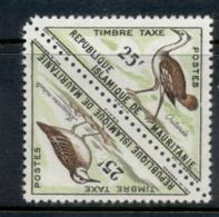 Mauritania 1963 Postage Due Birds Pr 25fr MUH - Mauritania (1960-...)