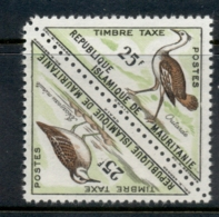 Mauritania 1963 Postage Due Birds Pr 25fr MUH - Mauritanie (1960-...)
