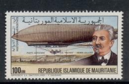 Mauritania 1976 Zeppelin 100u MUH - Mauritania (1960-...)