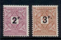 Mauritania 1927 Postage Dues Surch MLH - Mauritania (1906-1944)