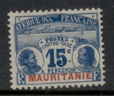 Mauritania 1906-07 Postage Dues 15c MLH - Mauritania (1906-1944)