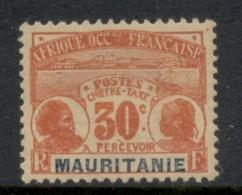 Mauritania 1906-07 Postage Dues 30c MLH - Mauritania (1906-1944)