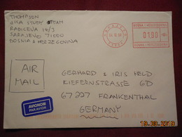 Lettre De 1999 à Destination De Frankenthal Avec EMA - Bosnie-Herzegovine