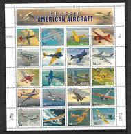 USA    1997   BLOC Classic American Aircraft 20 Appareils N** MNH - Avions