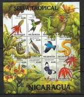 Nicaragua  BLOC  OISEAUX  TROPICAUX     N** MNH - Oiseaux