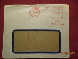 Lettre De 1938 Avec EMA - Marcophilie - EMA (Empreintes Machines)