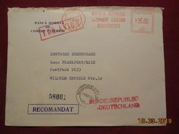 Lettre De 1982 à Destination De Frankfurt/Main Avec EMA - Marcofilia - EMA ( Maquina De Huellas A Franquear)