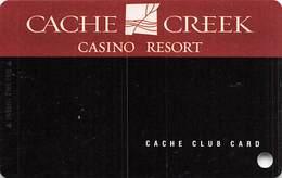 Cache Creek Casino - Brooks, CA - BLANK Slot Card - Casino Cards