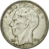 Monnaie, Belgique, 20 Francs, 20 Frank, 1934, TTB+, Argent, KM:105 - 1934-1945: Leopold III