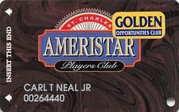 Ameristar Casino St. Charles, MO - Slot Card With Senior Sticker - Copyright 2001 - Rev Text 15mm - Casino Cards