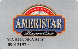Ameristar Casino Vicksburg, MS - Slot Card Without Insert Arrows - Casino Cards