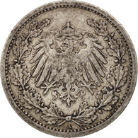 Monnaie, GERMANY - EMPIRE, 1/2 Mark, 1906, Berlin, TB+, Argent, KM:17 - [ 2] 1871-1918 : Empire Allemand