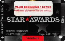 Ameristar Casino Vicksburg, MS - Slot Card - Copyright 2002 With Valid 11/07/02 Sticker - Casino Cards