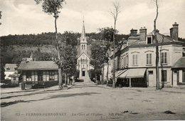 - 27 - VERNON-VERNONNET (Eure) - La Gare Et L'Eglise - Vernon