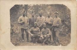 MILITARIA  GUERRE 14 18  VERDUN - 1° AOUT 1916  GROUPE DE POILUS  CARTE PHOTO  MEUSE - Guerre 1914-18