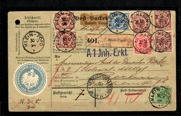 Togo: Kompl. Paketkarte 1894 Von Klein-Popo Nach Berlin Papiersiegel, BPP Attest - Kolonie: Togo