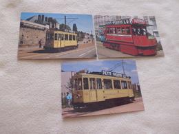 LOT DE  3 CARTES NOSTALGIE DU PASSE ..AUTOMOTRICE MEKARSKI (1) Et MOTRICE 44 (2) - Tramways