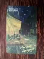 Korean Family Mart Gift Card, Vincent Van Gogh, Star Night,corner Tiny Damaged - Cartes Cadeaux