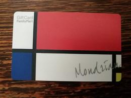 Korean Family Mart Gift Card, Painting Mondrian - Cartes Cadeaux