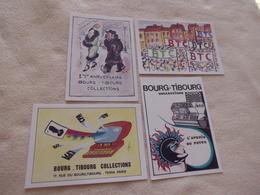 LOT DE  4 CARTES BOURG-TIBOURG COLLECTIONS..87..DESSIN DEGON..DUPLAYE..IBANEZ ET PORCHEROT - Bourses & Salons De Collections