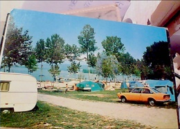 LAGO VIVERONE CAMPING  CAMPEGGIO DEL  SOLE ROULOTTE  AUTO CAR FIAT 124 SPORT COUPE  VB1970 HB8636 - Vercelli