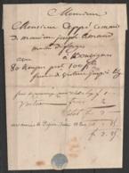 """L. Datée 15 Février 1834 De THUIN Pour Maître Des Forges à BOUVIGNES - Man. """"avec 80 ….pesant 100kg Franco De Voiture Ju - 1830-1849 (Belgique Indépendante)"""